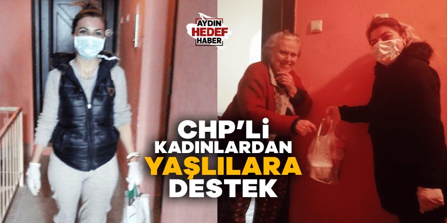 Nazilli'de CHP'li kadınlardan yaşlılara destek