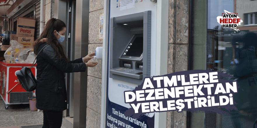 Karacasu Belediyesi ATM'lere dezenfektan yerleştirdi