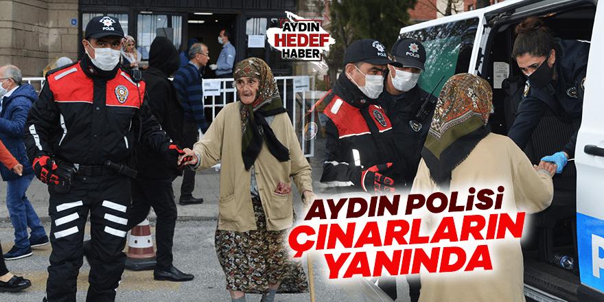 Aydın'da 90 yaşındaki kadının yardımına polisler koştu