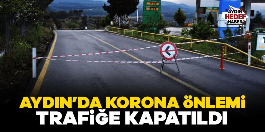 Karacasu'nun Tavas girişi trafiğe kapatıldı