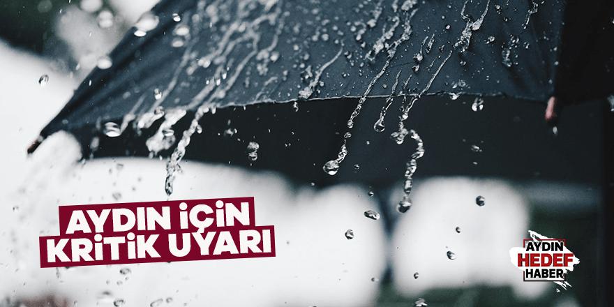 Yağışlı hava Aydın'da etkili olacak