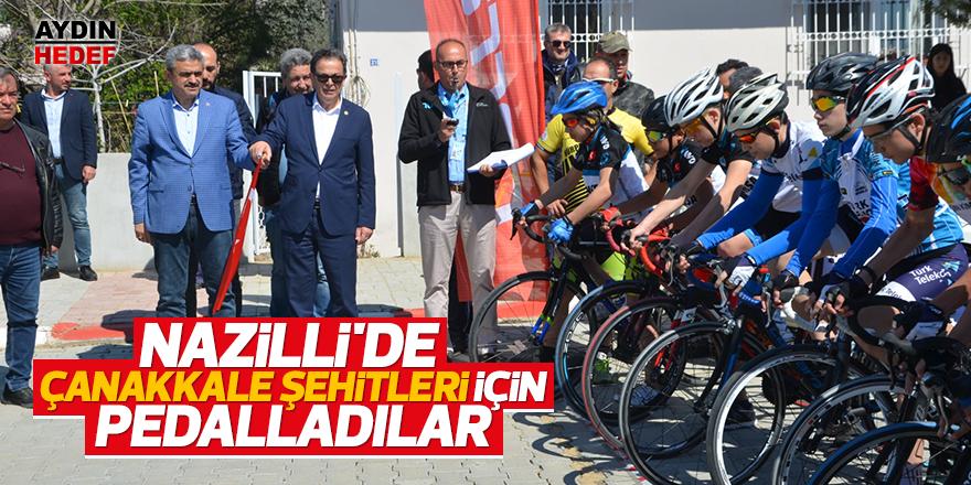 Nazilli'de Çanakkale Şehitleri için pedalladılar