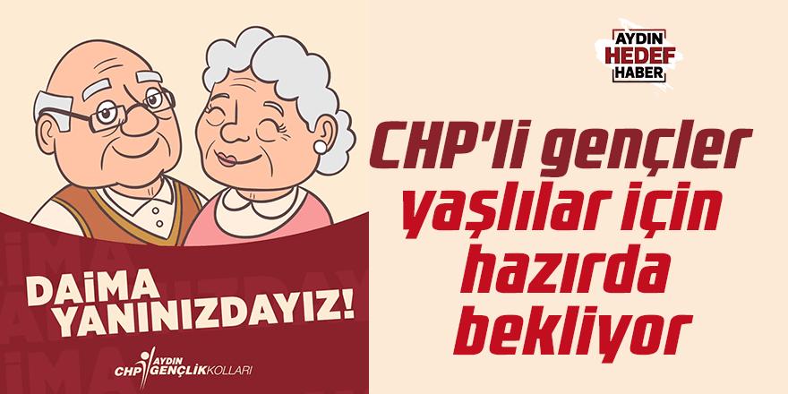 CHP'li gençler yaşlılar için hazırda bekliyor