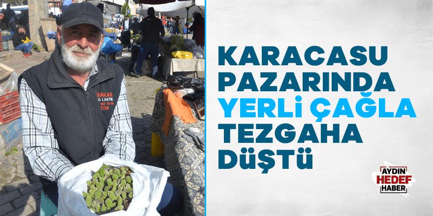 Karacasu pazarında yerli çağla tezgaha düştü