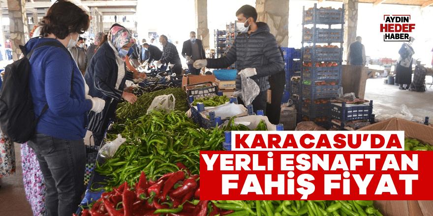 Karacasu'da yerli pazarı yabancıyı arattı
