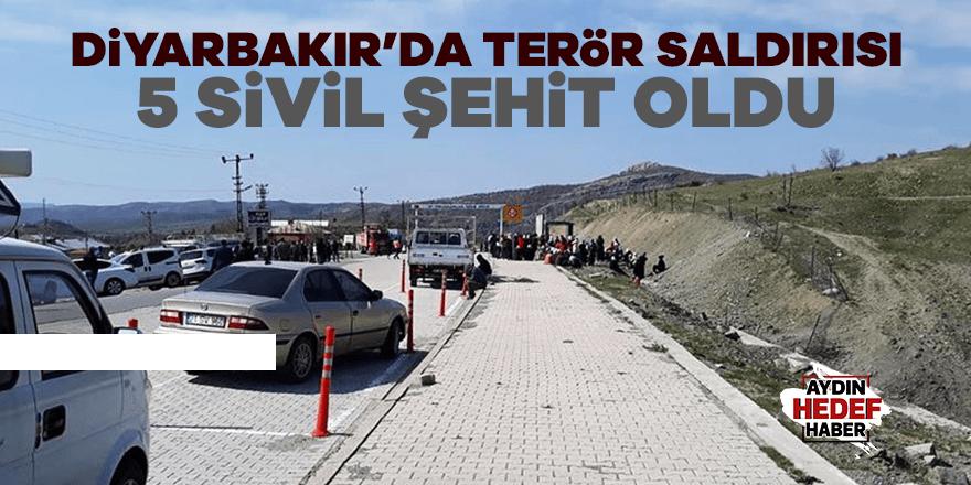 Diyarbakır'da terör saldırısı: 5 sivil şehit oldu