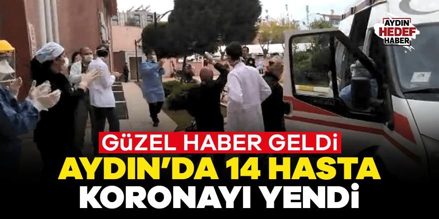 Aydın'da 14 hasta koronayı yendi