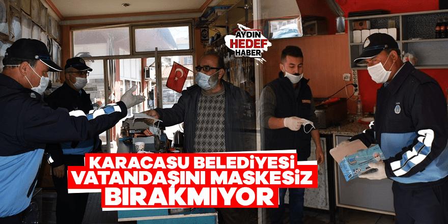 Karacasu Belediyesi vatandaşını maskesiz bırakmıyor