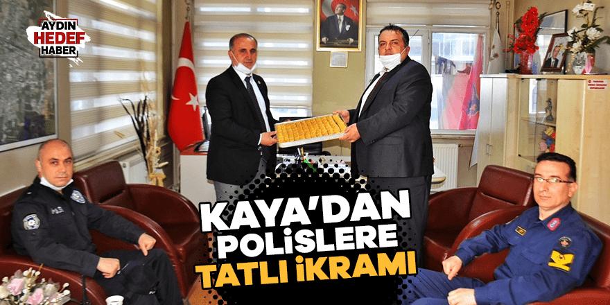 Kaya'dan polislere tatlı ikramı