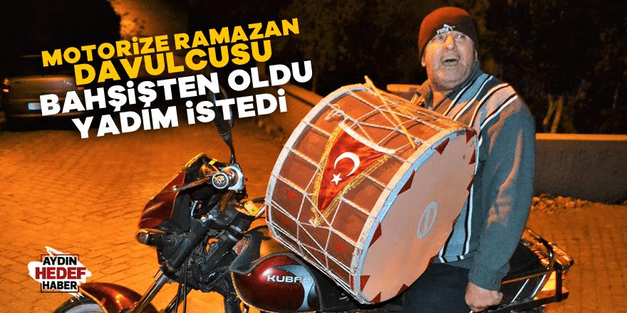 Motorize Ramazan davulcusu bahşişten oldu