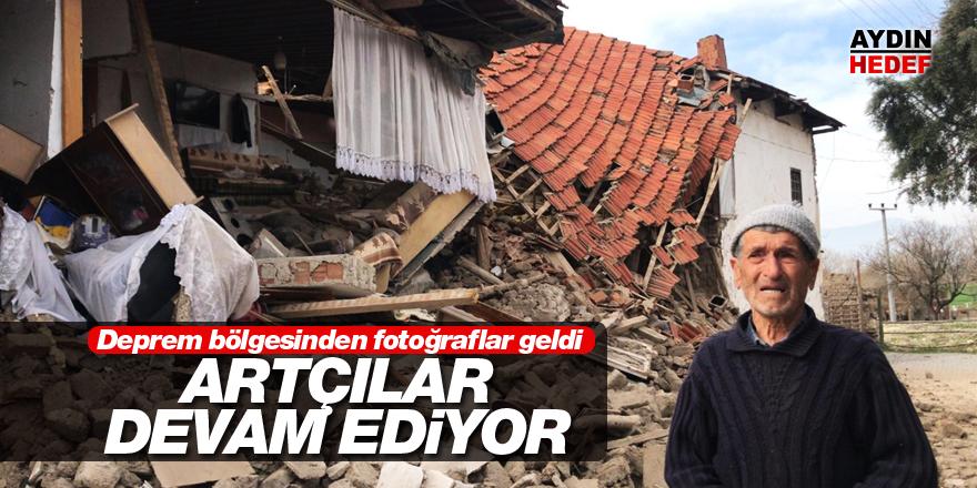 Deprem bölgesinden fotoğraflar geldi