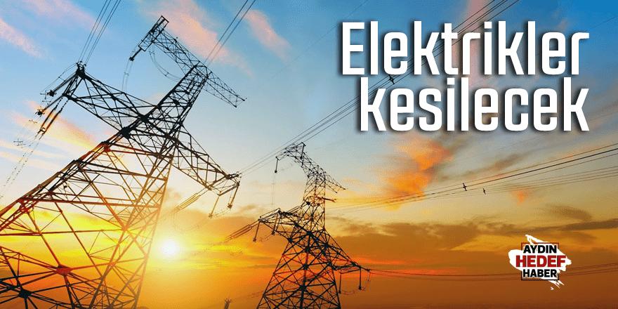 Bozdoğan'da elektrik kesintisi yaşanacak