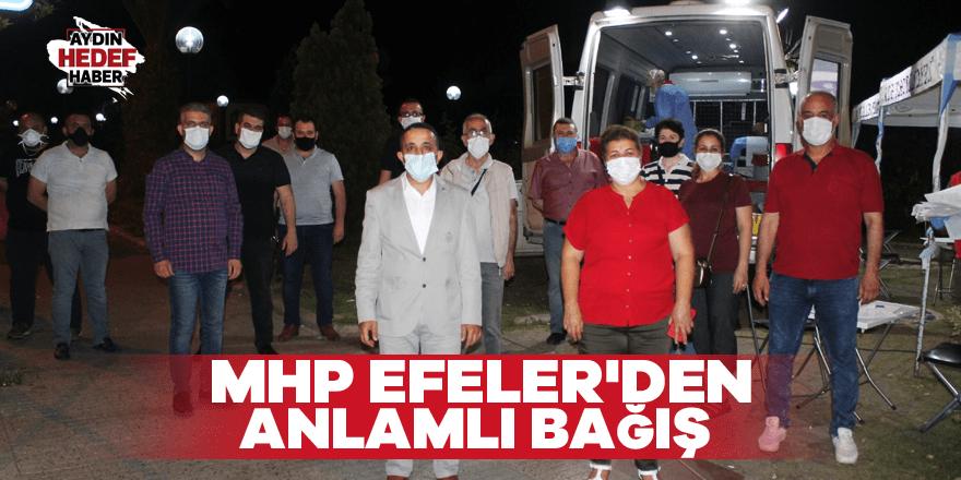 MHP Efeler'den anlamlı bağış