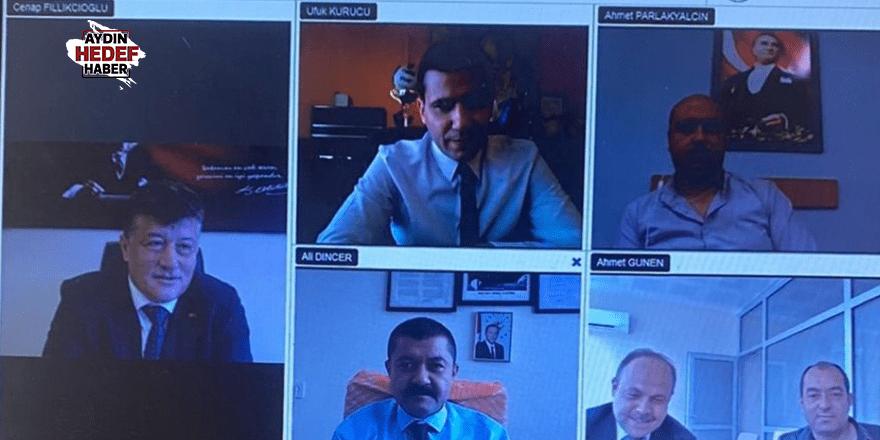 Video konferansla toplantı yaptılar