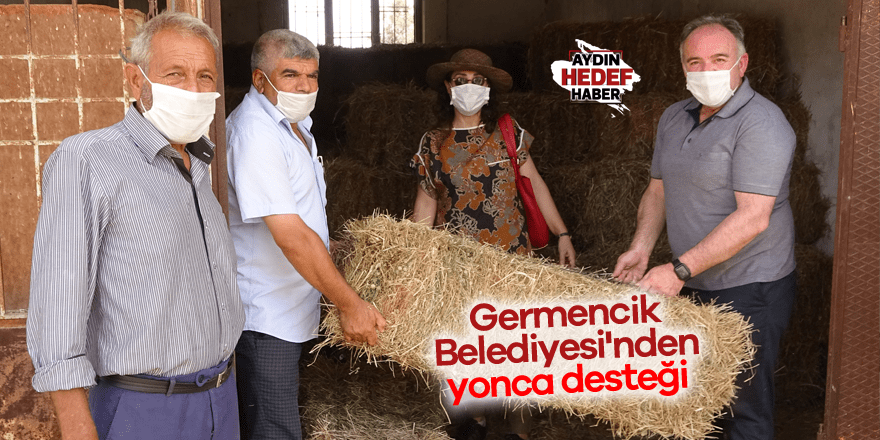 Germencik Belediyesi'nden çiftçi ve üreticilere yonca desteği