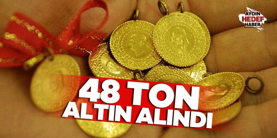 Vatandaşlar 48 ton altın aldı