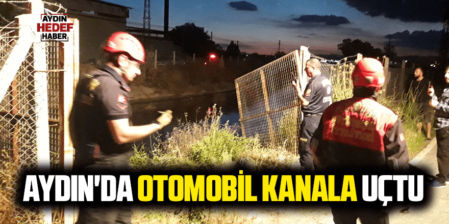 Aydın'da otomobil kanala uçtu