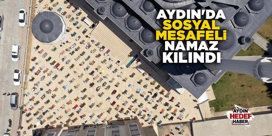 Aydın'da sosyal mesafeli namaz kılındı