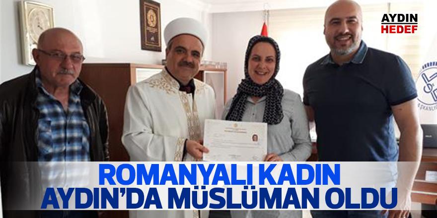 Romanyalı kadın Efeler'de müslüman oldu