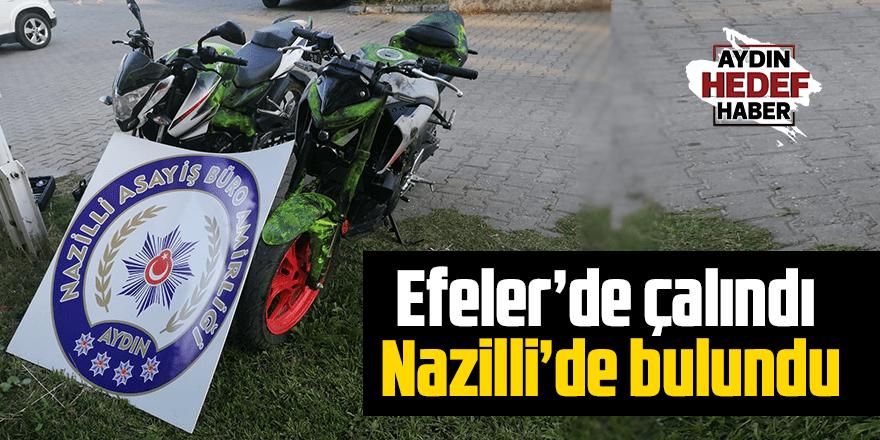Efeler'de çalındı Nazilli'de bulundu