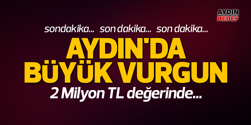 Aydın'da büyük vurgun