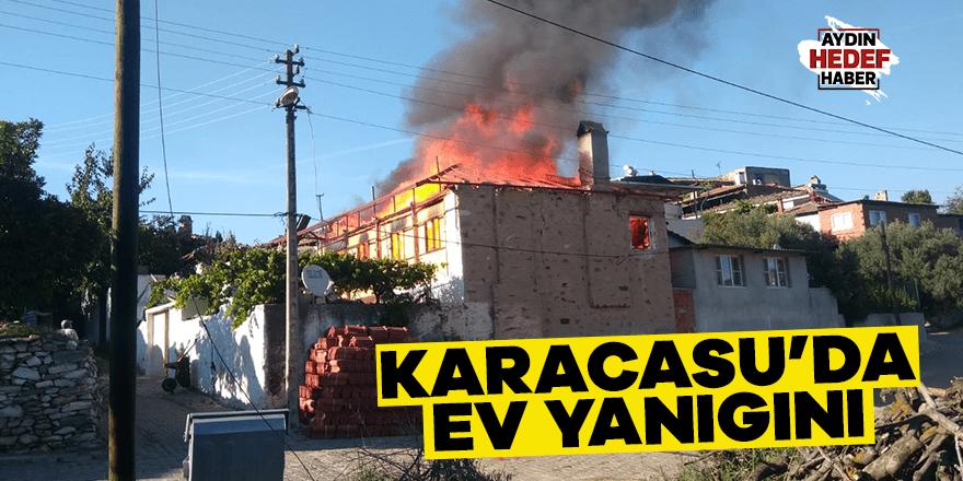 Karacasu'da ev yangını