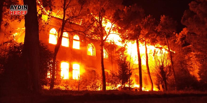 Komşu'da yangın çıktı
