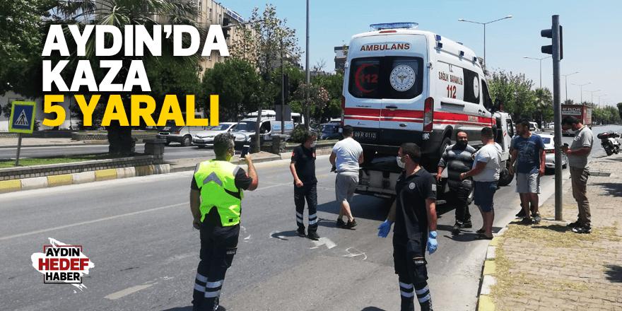 Ambulansın karıştığı kazada 5 yaralı