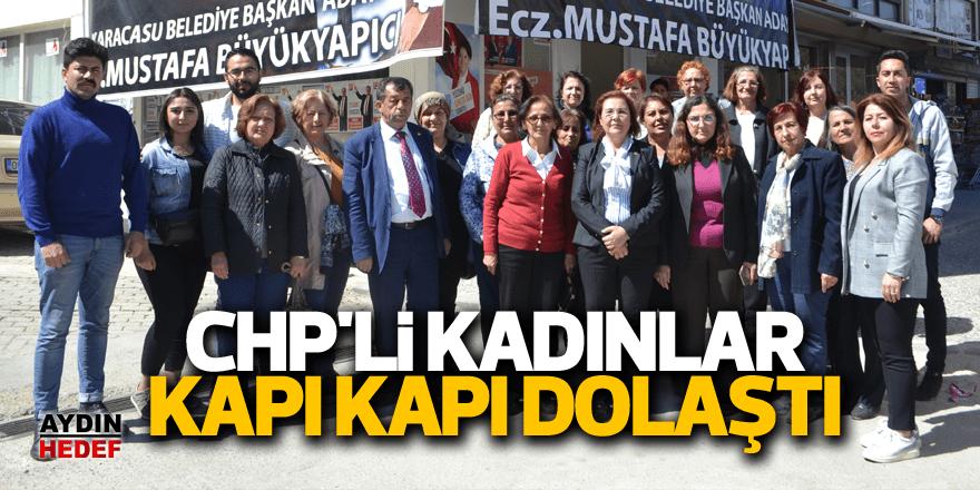 CHP'li kadınlar kapı kapı dolaştı