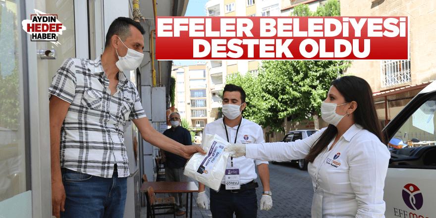 Efeler Belediyesi berber ve kuaförlere destek oldu