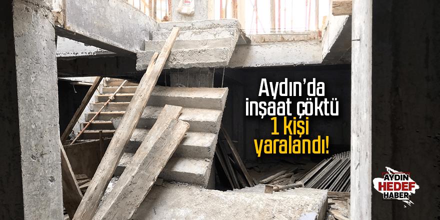 Aydın'da inşaat çöktü