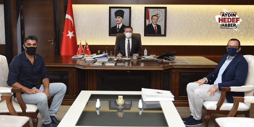 Aydın Valisi Aksoy, AA İzmir Bölge Müdürü Baysal'ı kabul etti