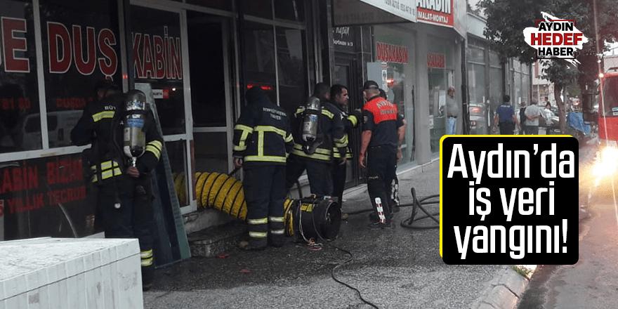 Aydın'da iş yeri yangını