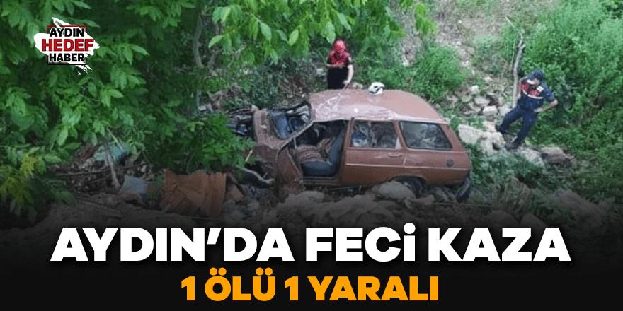 Aydın'da feci kaza: 1 ölü 1 yaralı