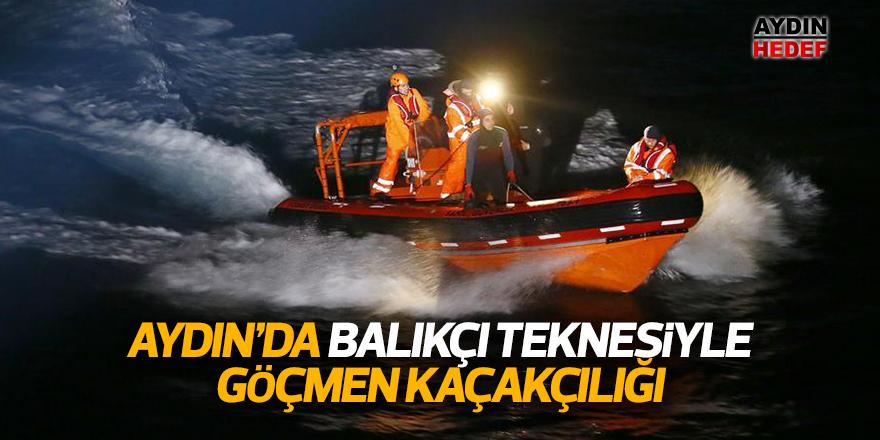 Balıkçı teknesiyle göçmen kaçakçılığı