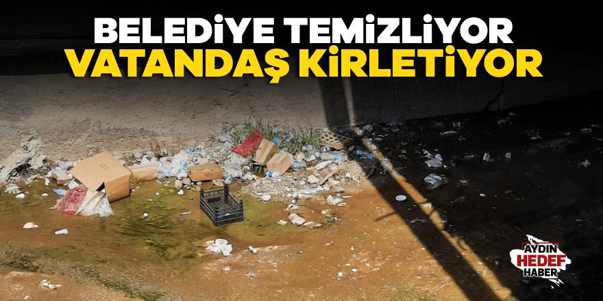 Belediye temizliyor vatandaş kirletiyor