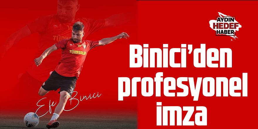 Binici'den profesyonel imza