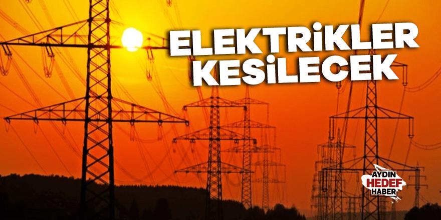 Köşk'te elektrik kesintisi yaşanacak