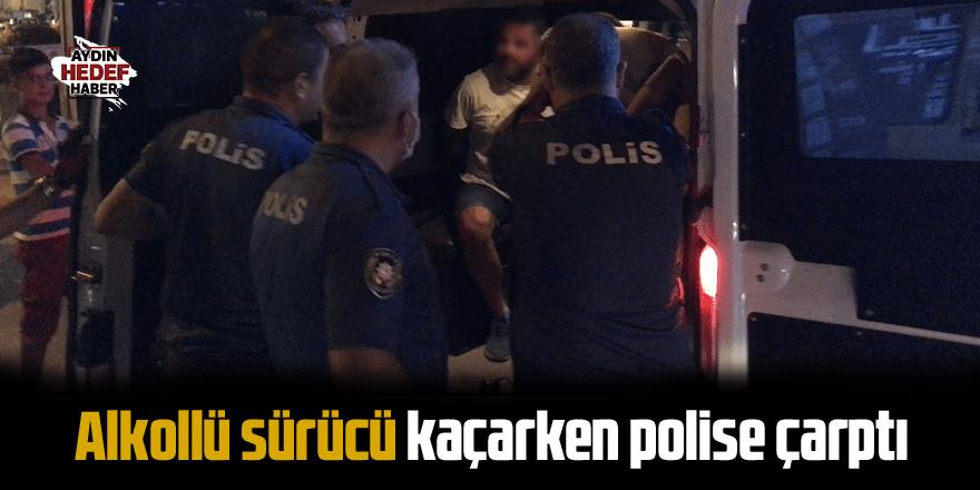 Alkollü sürücü kaçarken polise çarptı