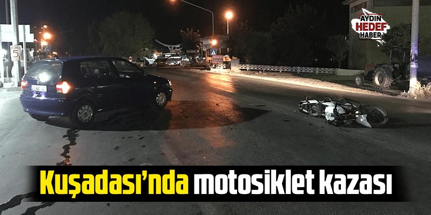 Kuşadası'nda motosiklet kazası; 1 yaralı