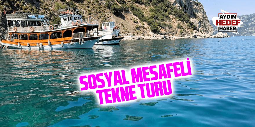 Sosyal mesafeyle tekne turu