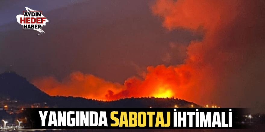 Yangında sabotaj ihtimali