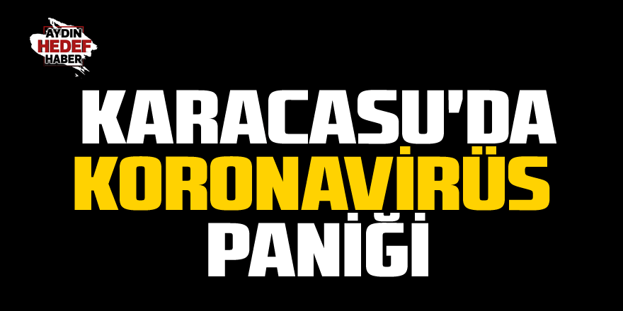 Karacasu'da koronavirüs paniği