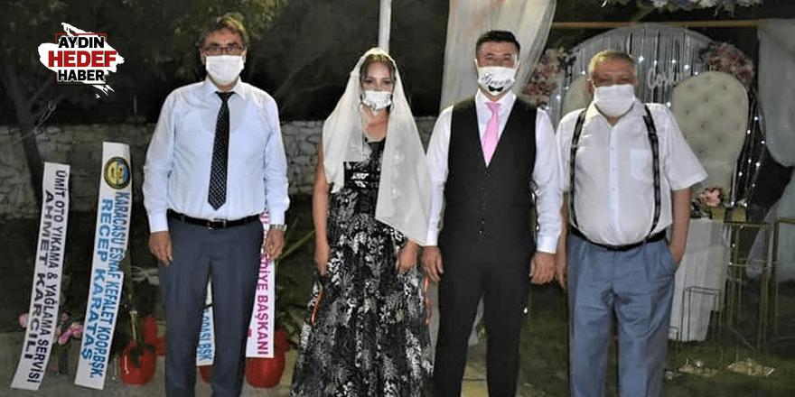 Karacasu'da genç muhtar nişanlandı