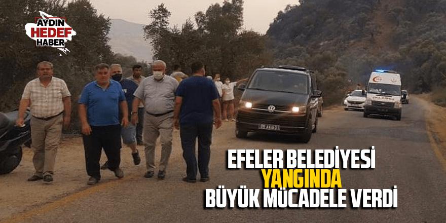 Efeler Belediyesi yangında büyük mücadele verdi