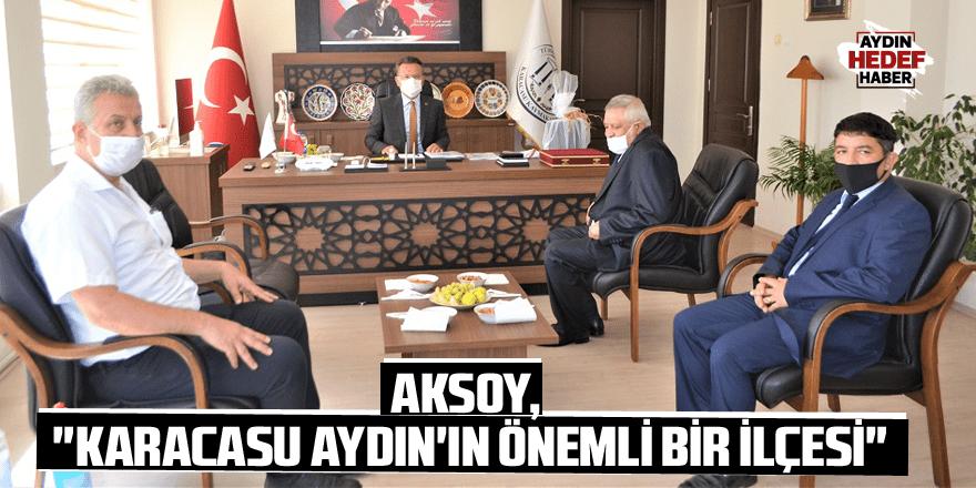 """Aksoy, """"Karacasu Aydın'ın önemli bir ilçesi"""""""