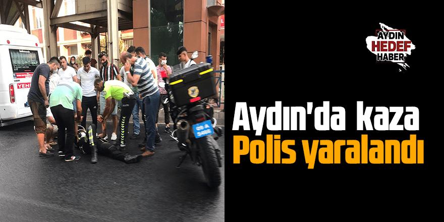 Aydın'da  kaza Polis yaralandı