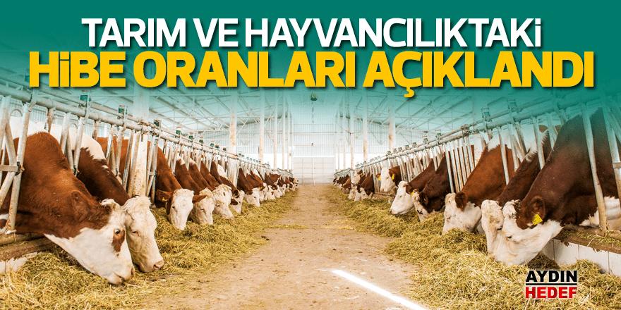 Tarım ve hayvancılıktaki hibe oranları açıklandı