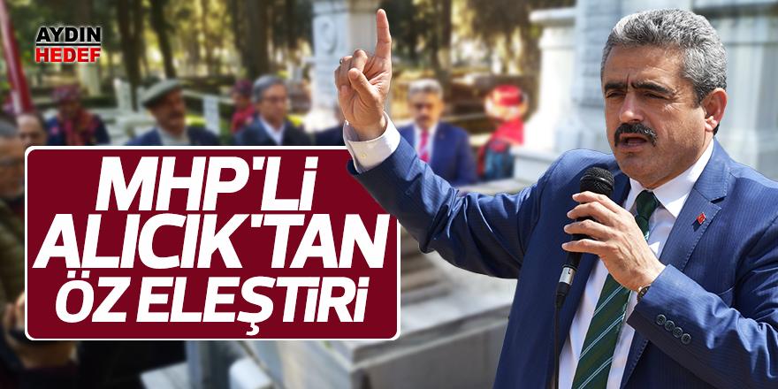 MHP'li Alıcık'tan öz eleştiri