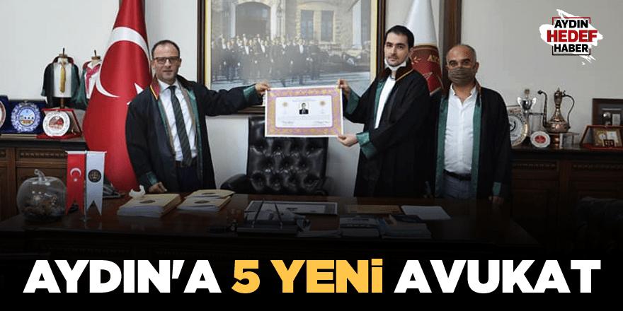 Aydın'a 5 yeni avukat